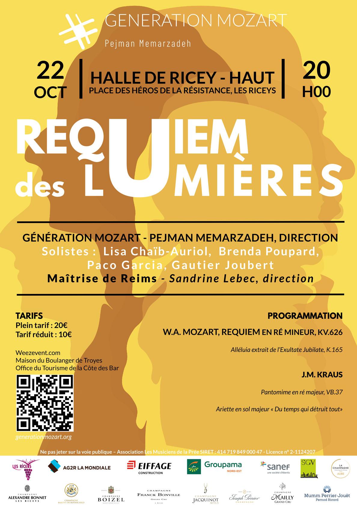 Affiche Génération Mozart aux Riceys 22 Octobre